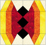 Stained Glass Butterfly Quilt Block Pattern Download
