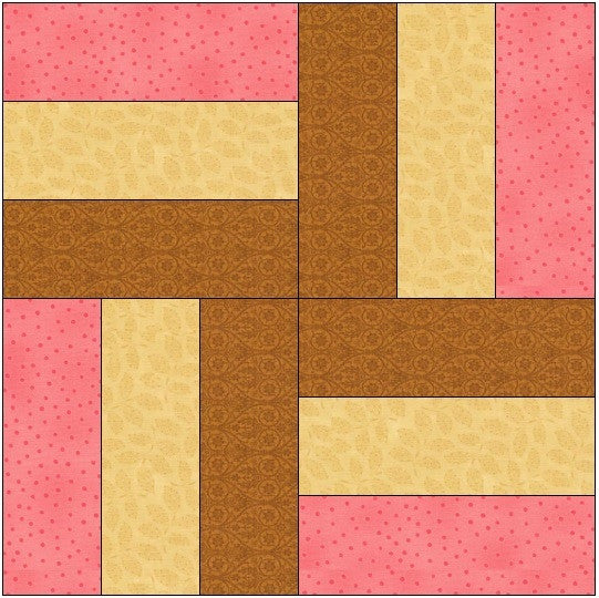 Neopolitain Quilt Block Pattern Download