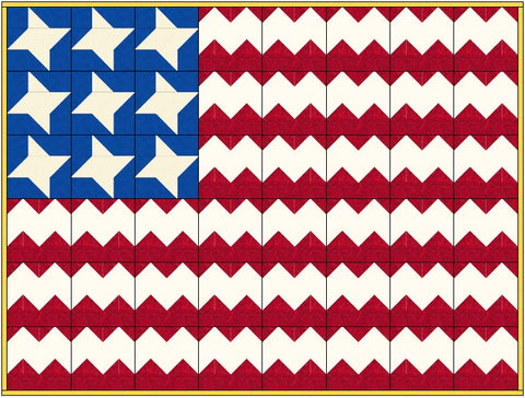 Old Glory or American Flag Quilt Pattern Download