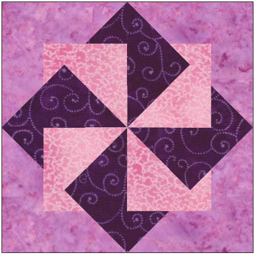 Origami Pinwheel Quilt Block Pattern Download