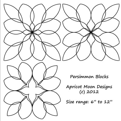 Persimmon Blocks Quilt Design