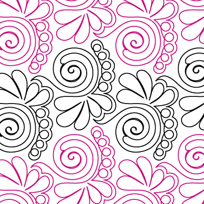Pincurl Feathers Quilt Design