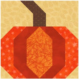 Pumpkin Quilt Block Pattern Download