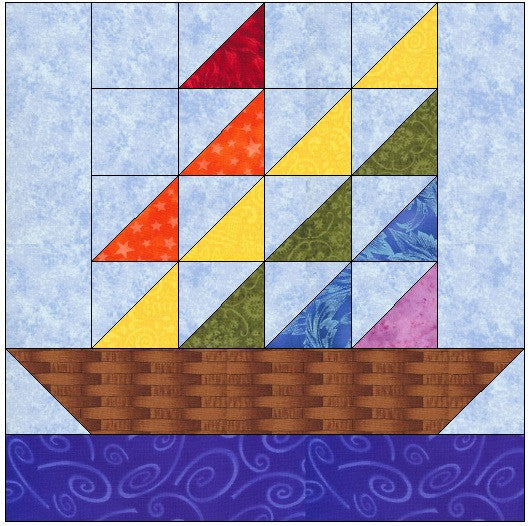 Sail Away Quilt Block Pattern Download