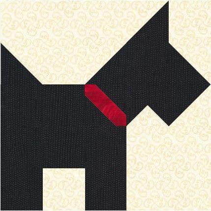 Scottie Dog Quilt Block Pattern Download