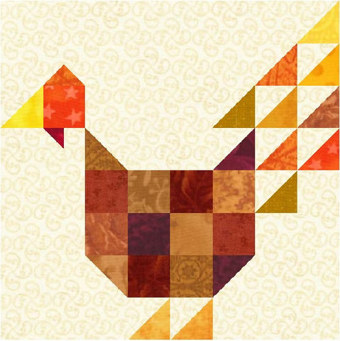 Turkey Quilt Block Scrappy Turkey Block Pattern Download