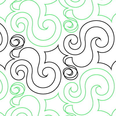 Scribbly Swirls Quilt Design