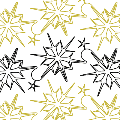 Snow Crystals Quilt Design