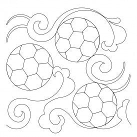 Soccer Field Quilt Design