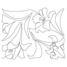 Spring Lilies Quilt Design