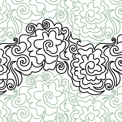 Swirling Rose Quilt Design