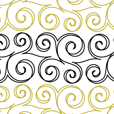 Swirls Quilt Design