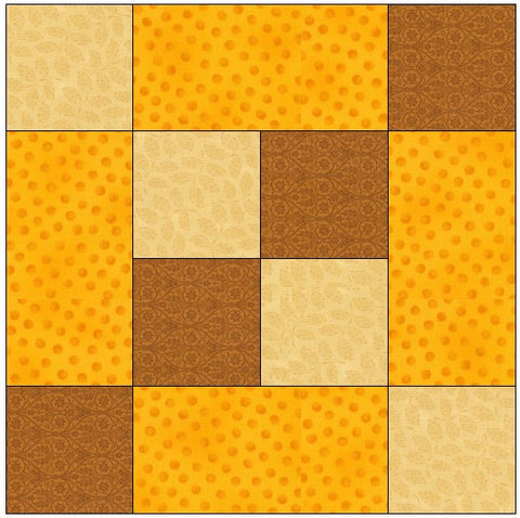 Checks in the Middle Quilt Block Pattern Download