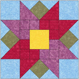 Tulips All Around Quilt Block Pattern Download