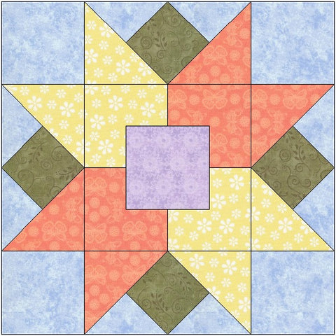 Tulips All Around Quilt Block Pattern Download The