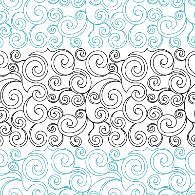 Whirly Swirls 1 Quilt Design