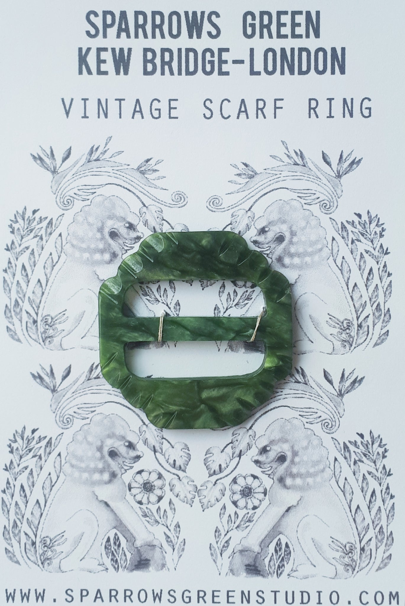 Vintage scarf ring A