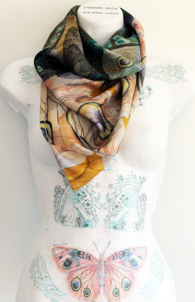 Square Butterfly scarf