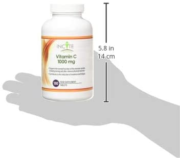 Vitamin C 1000mg | 180 Premium Tablets | High Dose Quality Ascorbic Acid