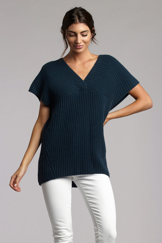 Jayme Directional Ribbed Pop Over