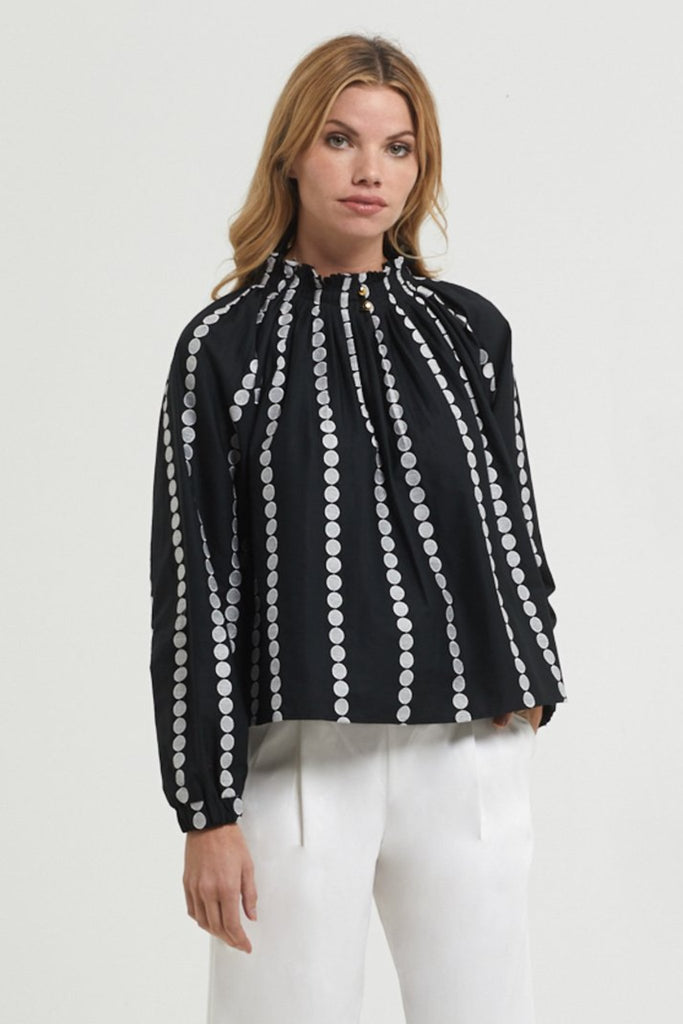 ARDEN EMBROIDERED BLOUSE