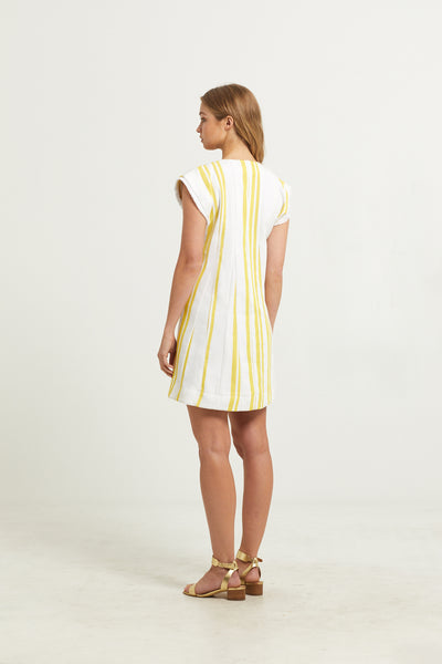 PAULEY PLEATED DRESS