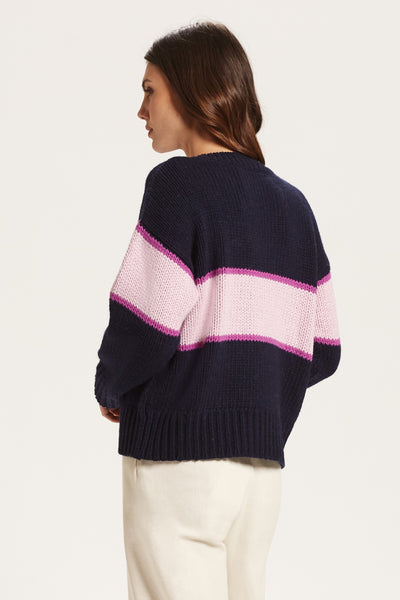 CADI COLORBLOCK CREW SWEATER