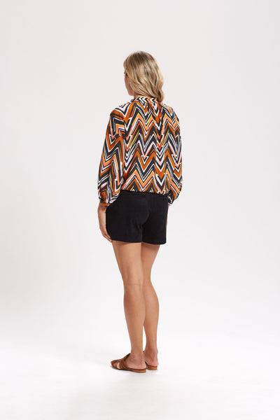 HENDRIX KNOTTED FRONT BLOUSE