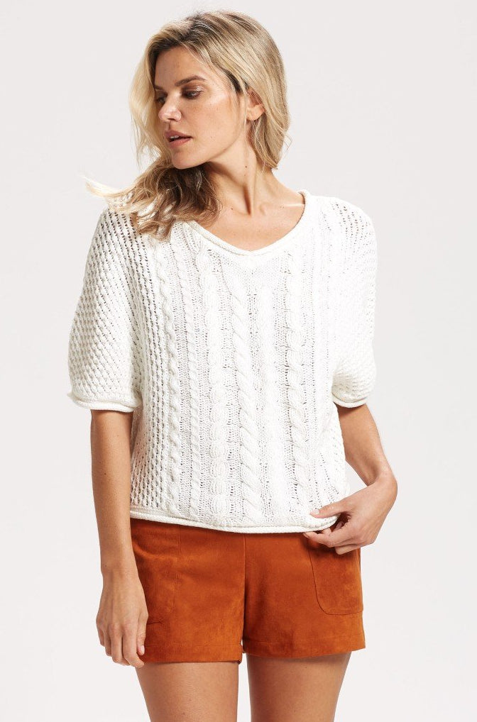 VNECK CABLE POPOVER