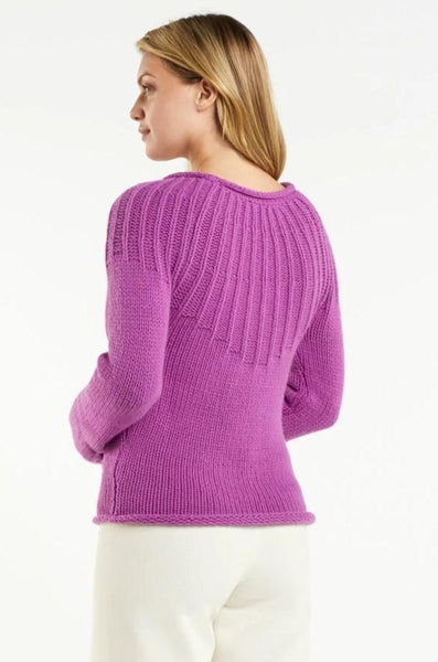 PAXTON PLEATED ROLL NECK SWEATER