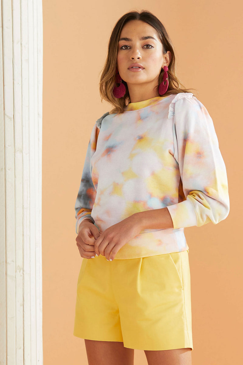 Light Pastel Tie Dye Sweatshirt Top