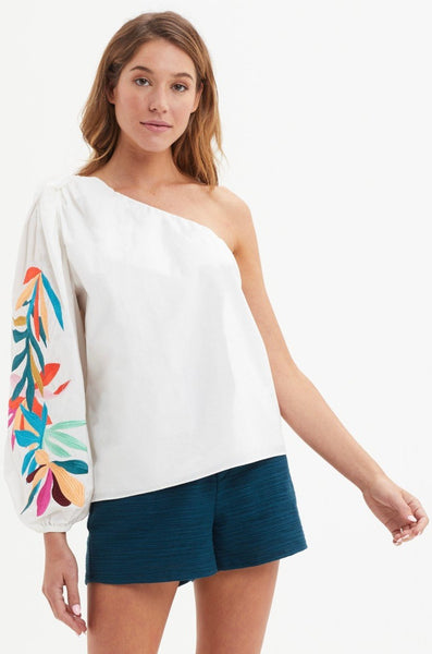 OLIVIA EMBROIDERED  BLOUSE