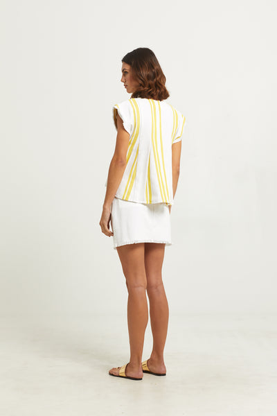 PAULEY PLEATED BLOUSE