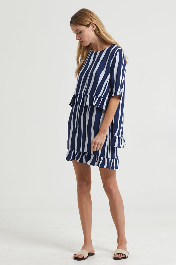LELE RUFFLE DRESS