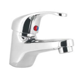 Base Contemporary Mini Mono Basin Mixer Including Clicker Waste Chrome