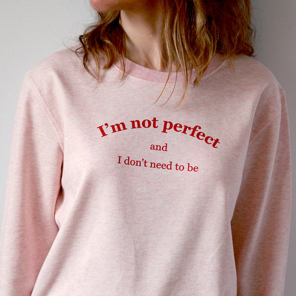 Sweater I'm not perfect - Mujer