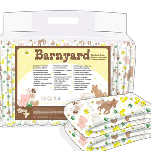 #324: Disposable Rearz Elite Hybrid Adult Diaper: BARNYARD ANIMALS