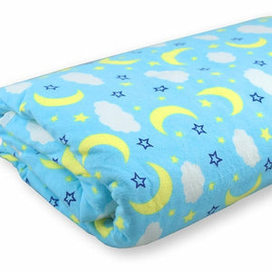 #425: Jumbo Waterproof Bed Pad: Blue Clouds