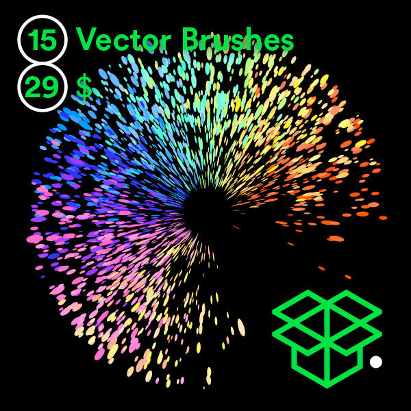 Vector Paint Brushes Bundle – 1
