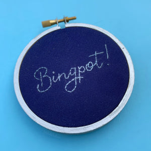 BINGPOT! / Brooklyn 99, B99 embroidery hoop