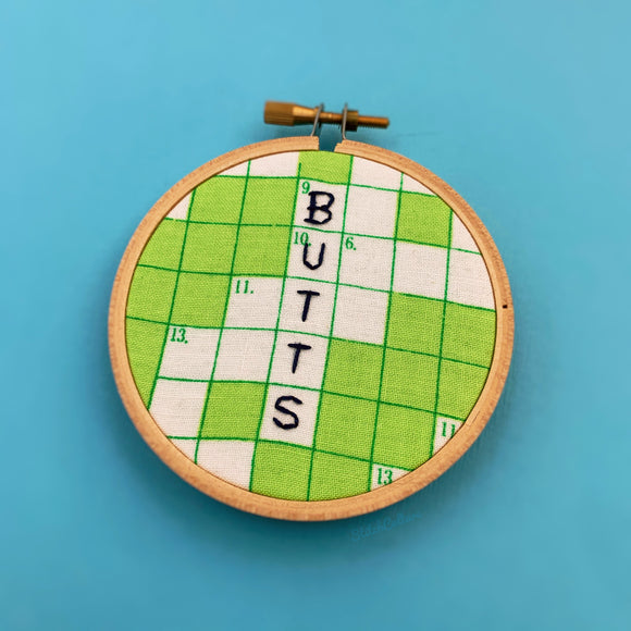 BUTTS / Bob's Burgers Embroidery Hoop