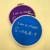 THE SIMPSONS / I AM SO SMART embroidery hoop
