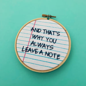 AND THAT'S WHY YOU ALWAYS LEAVE A NOTE / Arrested Development