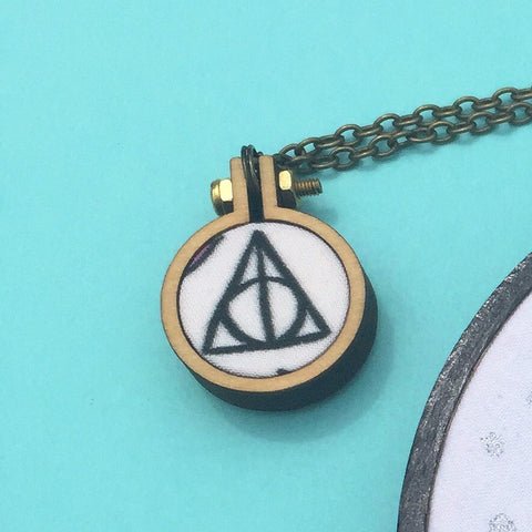 Harry Potter Deathly Hallows Mini Hoop Necklace