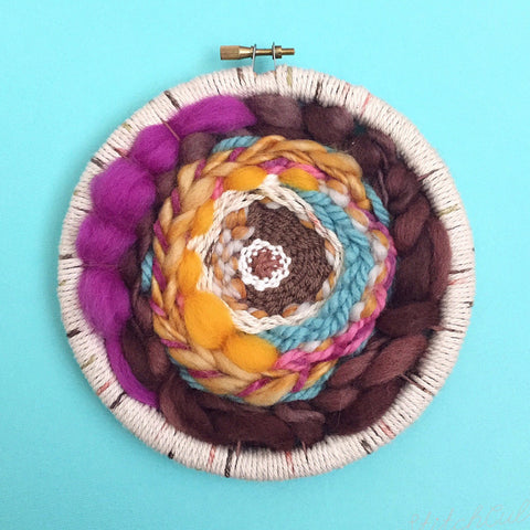 hand woven hoop by stitchculture