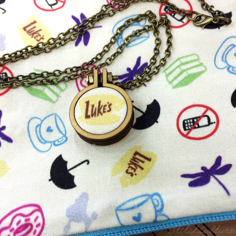 Luke's Diner / Gilmore Girls Mini Hoop Necklace