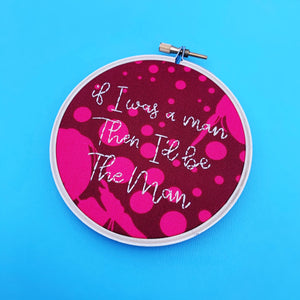 THE MAN / Taylor Swift Hand Embroidered Hoop
