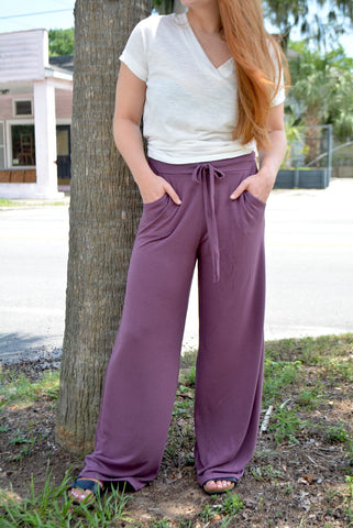 Basic Eggplant Lounge Pants
