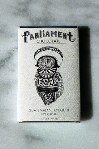 Parliament Chocolate 70% Guatemala: Q'eqchi Dark Chocolate Bar - Chocolate Bar Suppliers