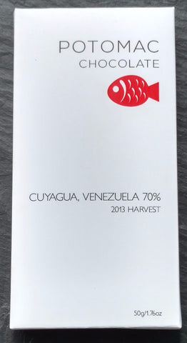 Potomac Chocolate 70% Cuyagua, Venezuela Dark Chocolate Bar - Chocolate Bar Suppliers
